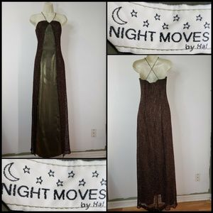 Night Moves By Ha! Woman Halter Prom Long Dress